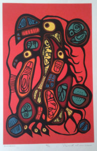 A RARE, LIMITED EDITION NORVAL MORRISSEAU PRINT Image