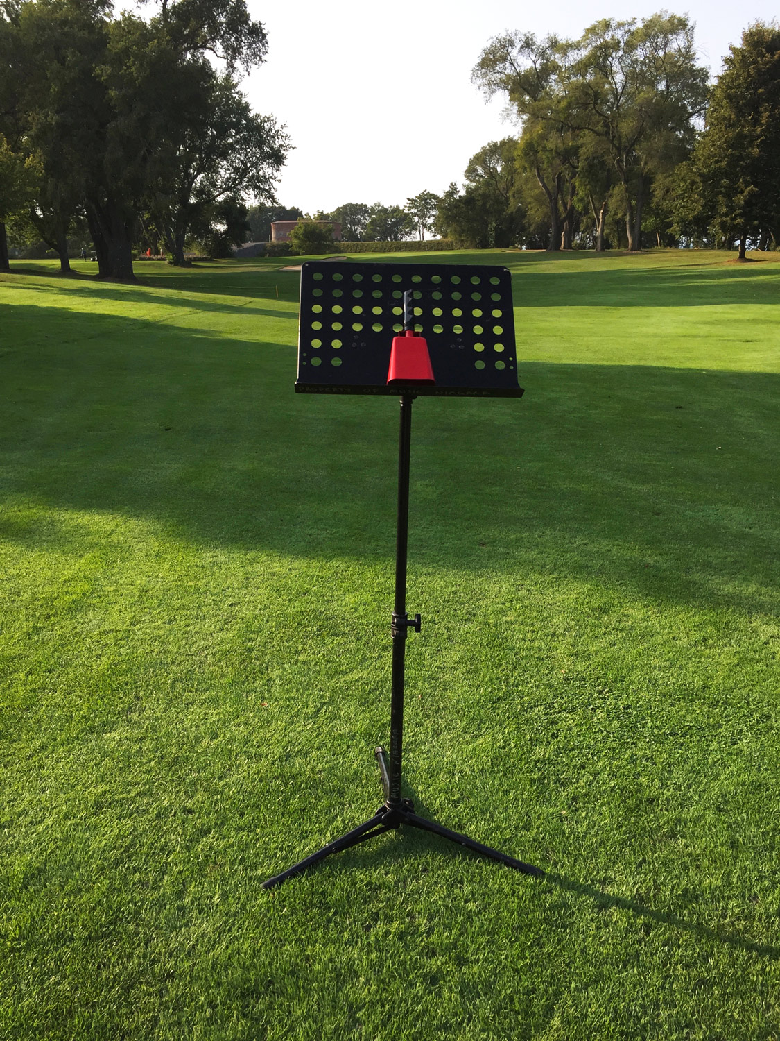Golf course with music stand